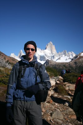 Me in front of Mount Fitz Roy