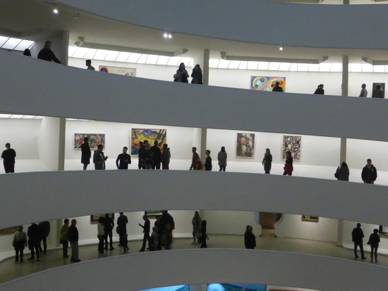 visitors are part of the experience, like a Calder mobile