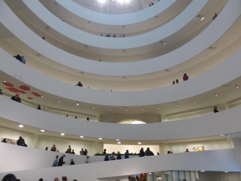 The spiralling gallery