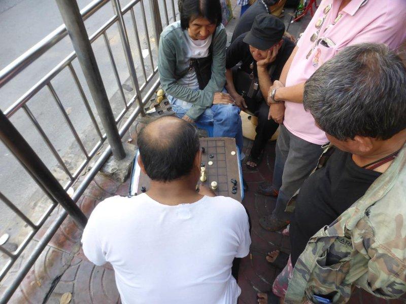 chessplayers, Chinatown