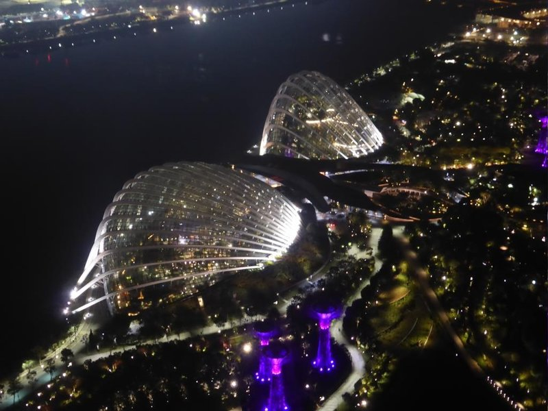 the two domes in the Gardens By the Bay