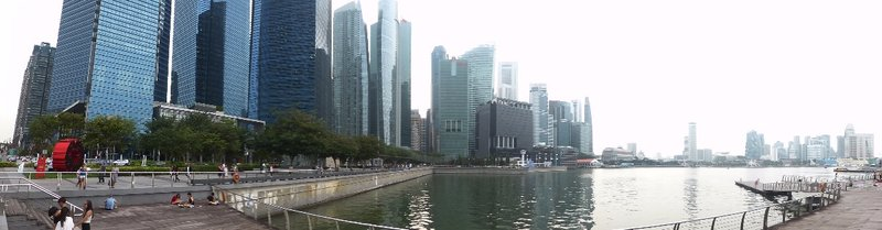 view on the new financial centre from the Bay