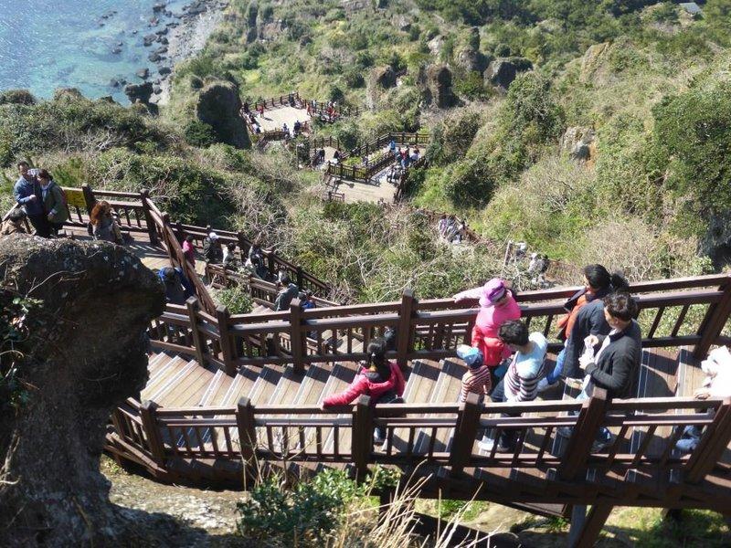 the stairs to Seongsan