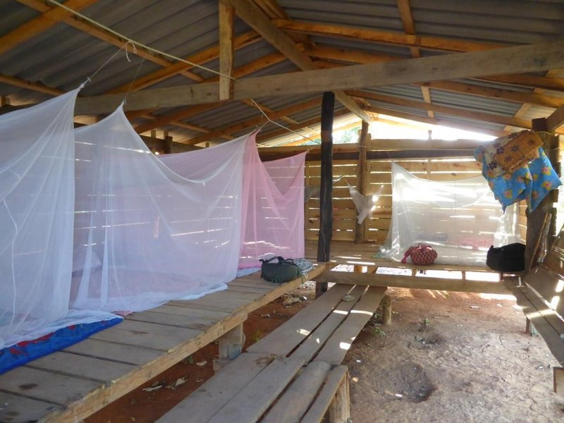 dormitory. the mosquito nets give some privacy I suppose