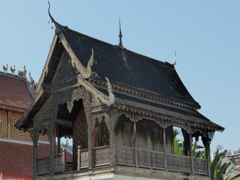 wooden side building