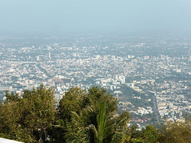 view on Chiang Mai from the temple.
