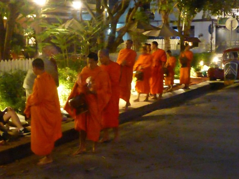 5:50': the first monks appear