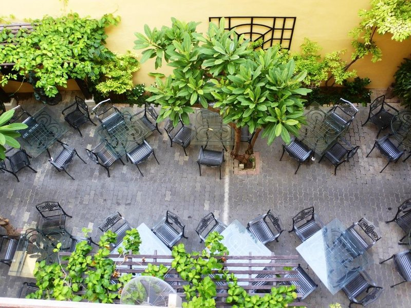 view on the breakfast area in Puri hotel