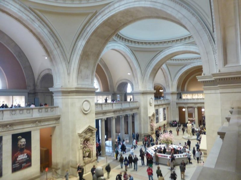 Entry hall of the Metropolitan Museum