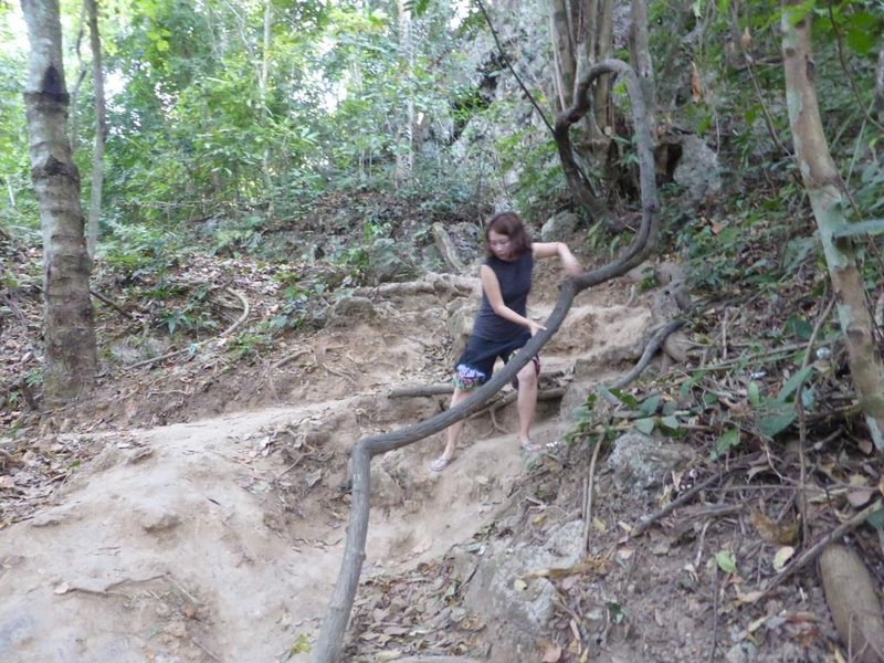 seep slope to get to the top - and back down