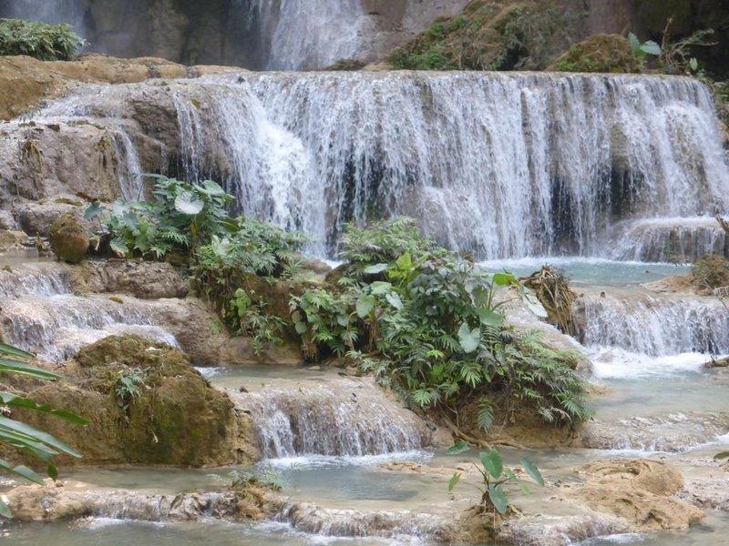 below the main cascade