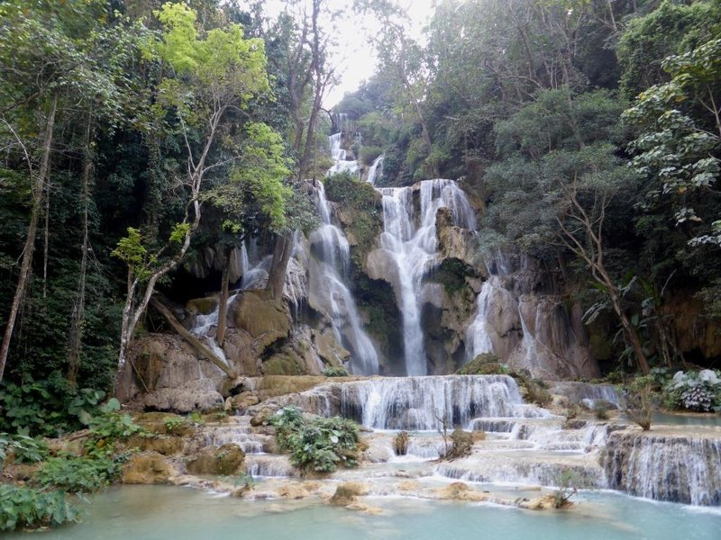 the best overview of the main waterfall