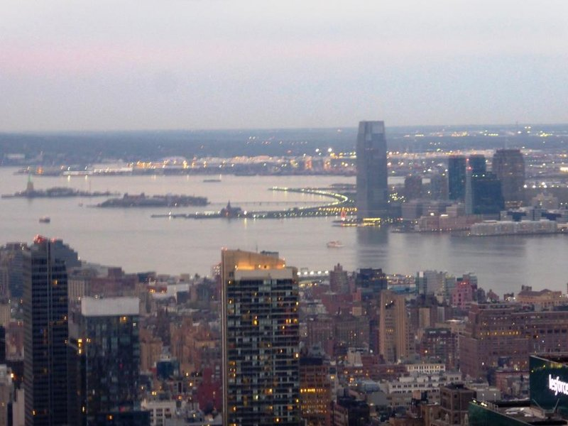 Top of the Rock:New Jersey, Liberty Island and Ellis Island