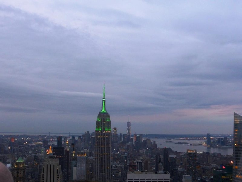 Top of the Rock:the Empire State Building lits up