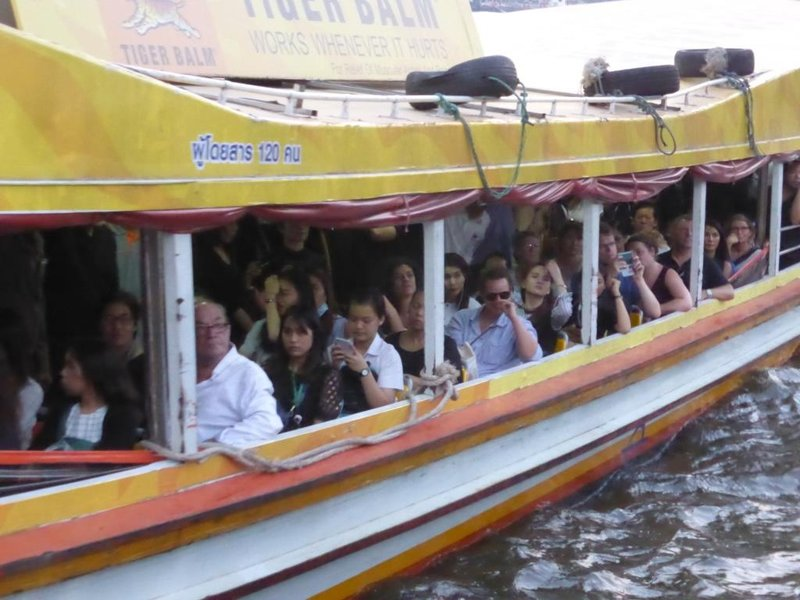 passengers of the river boat shuttles