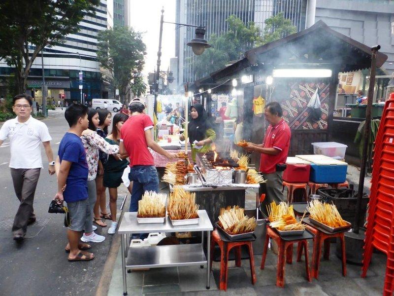satay street set up