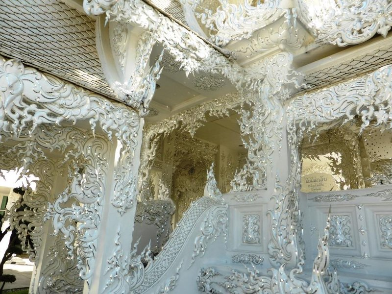 white temple, detail