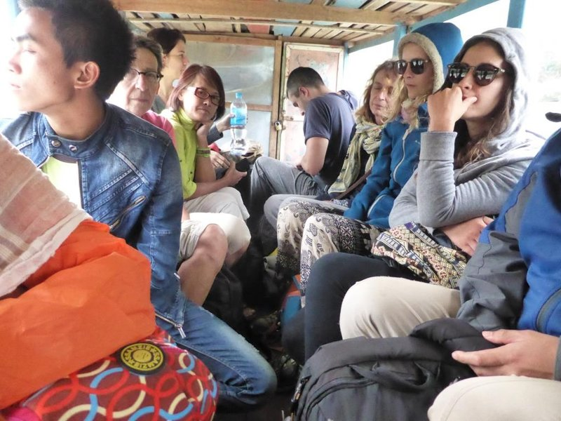 nearly all the passengers are backpackers, with French in the majority