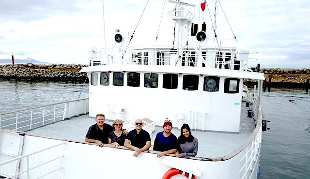 King  Family aboard Pacific Aurora