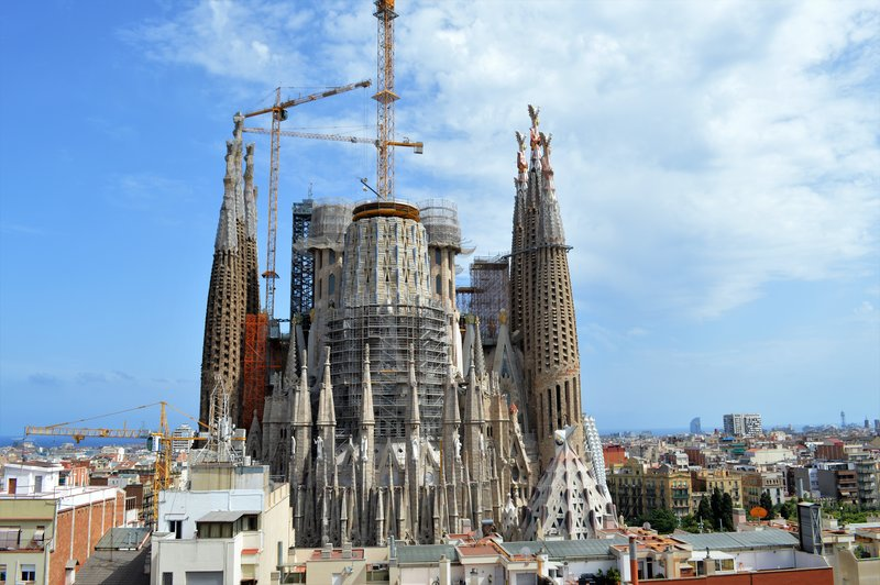Sagrada Familia from higher up