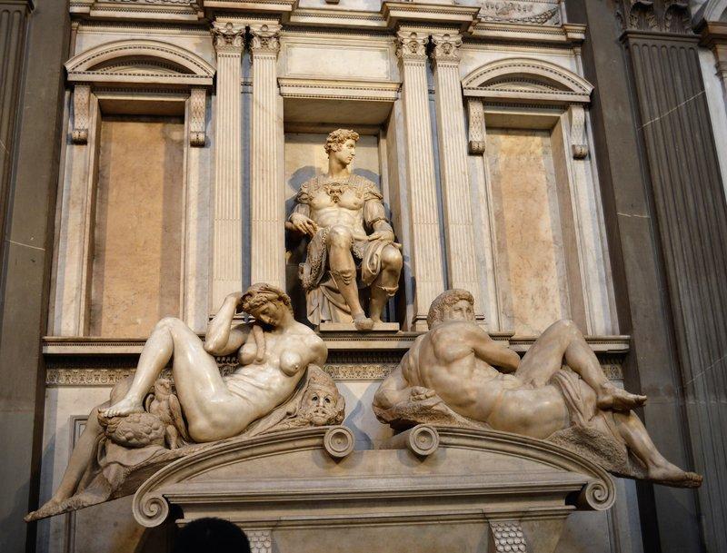 Cappelle Medicee: East wall Giuliano di Lorenzo de' Medici