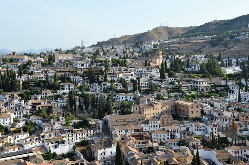 View from the Alhambra to our hill