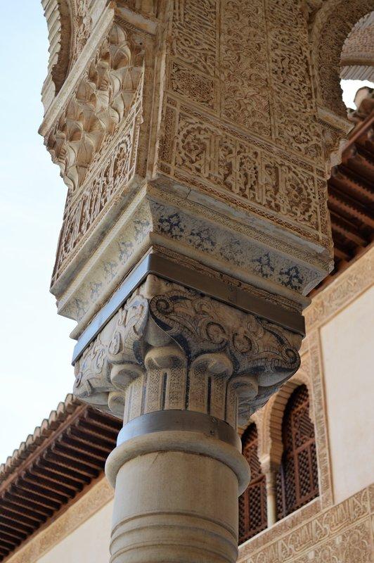 Alhambra: detail of pillar capital