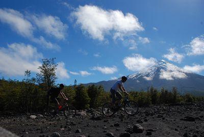 Biken am Vulkan Osorno