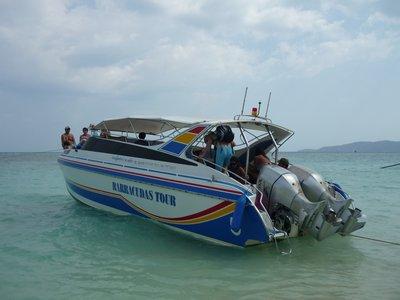 a speedboat