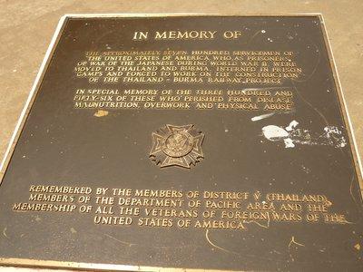 a vasútvonal áldozatainak emlékére