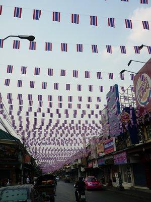 utca a Khao San Road mögött