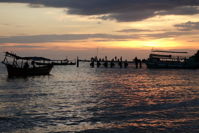 The port of Sihanoukville