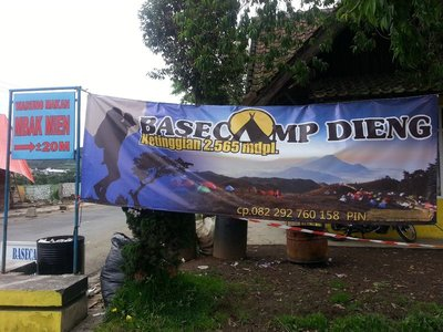 Dieng base camp