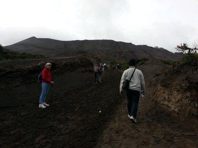 Walking towards mount Bromo