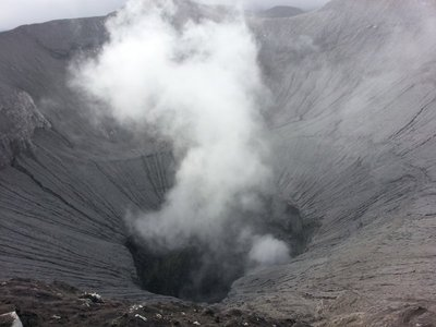 Crater on top of mount Bromo