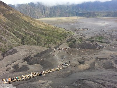 View from top of Mount Bromo