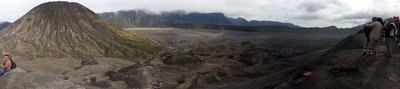 View of mount Batuk from top of mount Bromo