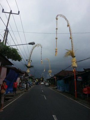 Penjor in conjunction with Galungan festival