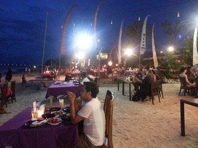 Dinner at Jimbaran Bay