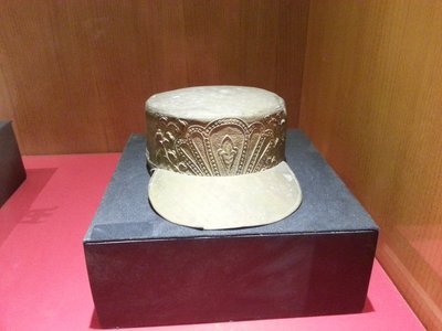 Bronze cap of soldier