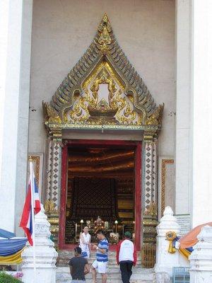 Entrance to Wiharn Phra Mongkhon Bophit