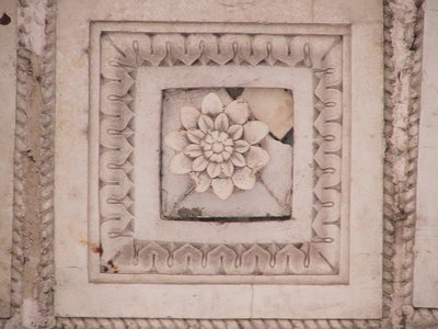 A floral tile