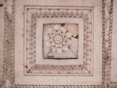 A floral tile