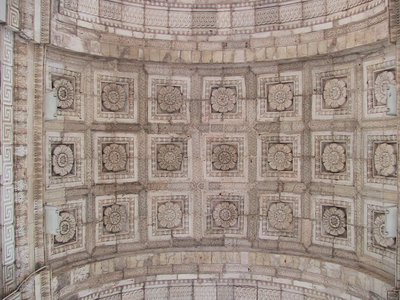 Another floral design on the ceiling of Triumphal Arch