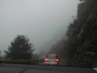 Misty road of Hehuanshan
