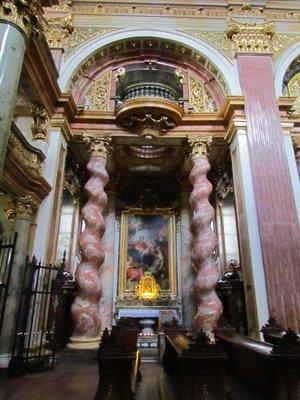 Pillars inside Jesuit Church