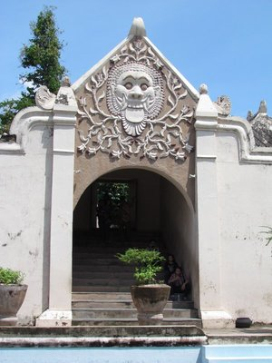 Entrance to bathing complex