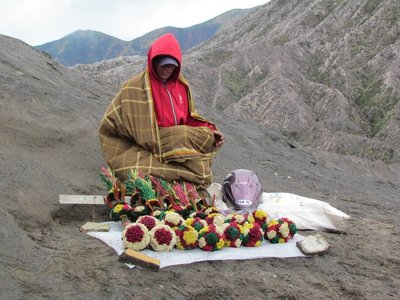 Edelweiss flower seller