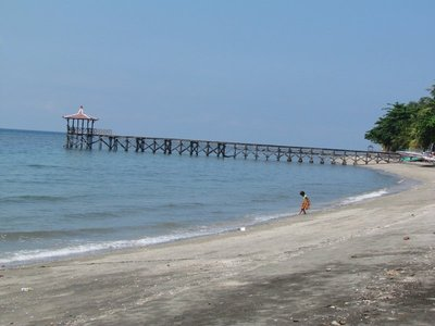 Pier at Pasir Putih beach