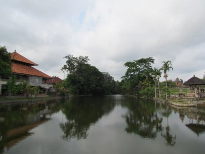 Lake next to Pura Taman Ayun